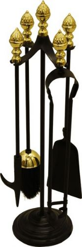 Acorn Companion Set Black & Brass
